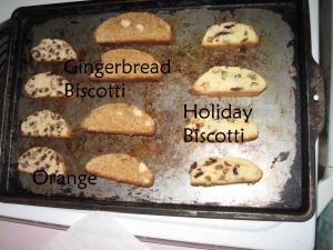 Orange-Chocolate, Gingerbread, and Holiday Biscotti