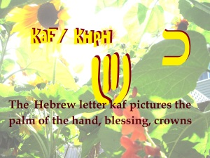 The Hebrew letter Kof or khph transliterates to a k sound in English