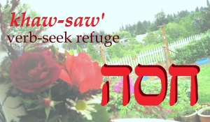 Refuge; from the Hebrew word