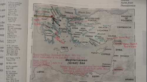 1 Thessalonians map