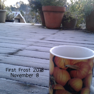First Frost November 8, 2018